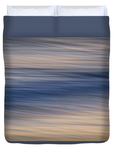 Flow Of Time And Tides Duvet Cover
