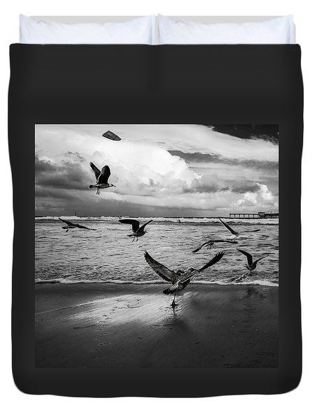 Duvet Cover featuring the photograph Flow by Ryan Weddle