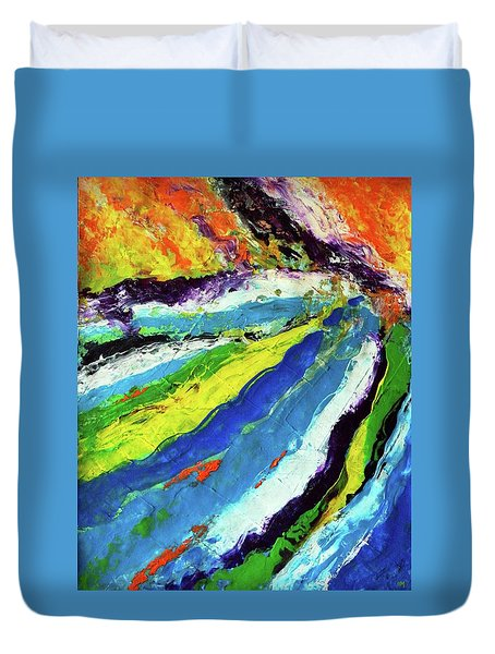 Flowage Duvet Cover by Everette McMahan jr