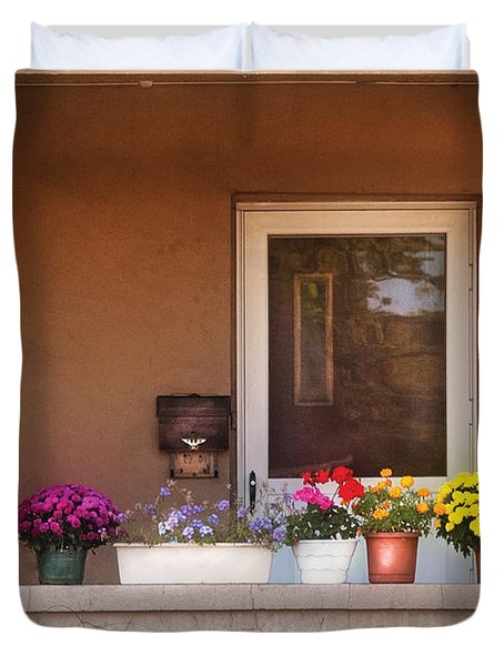 Flower - Still - Thinking Of Spring Duvet Cover by Mike Savad