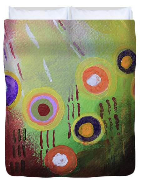 Flower 1 Abstract Duvet Cover