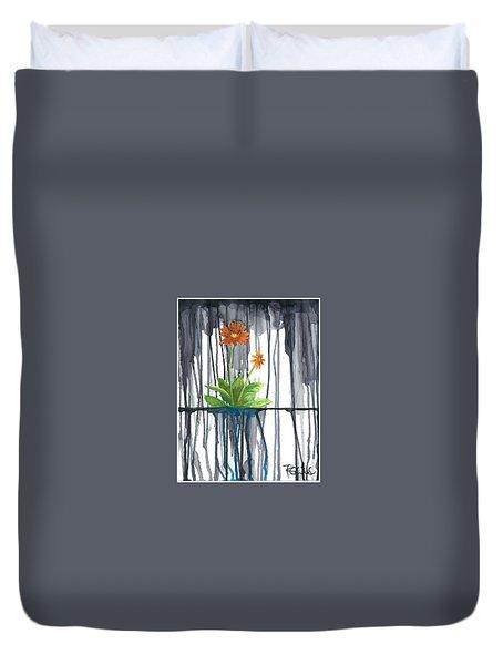 Flower #1 Duvet Cover by Rebecca Childs