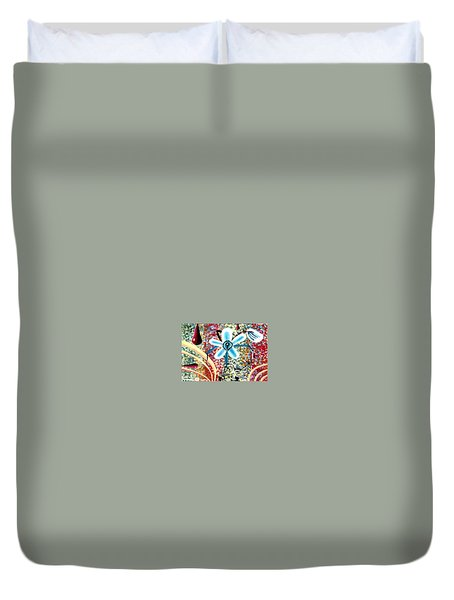 Flower And Ant Duvet Cover by Luke Galutia