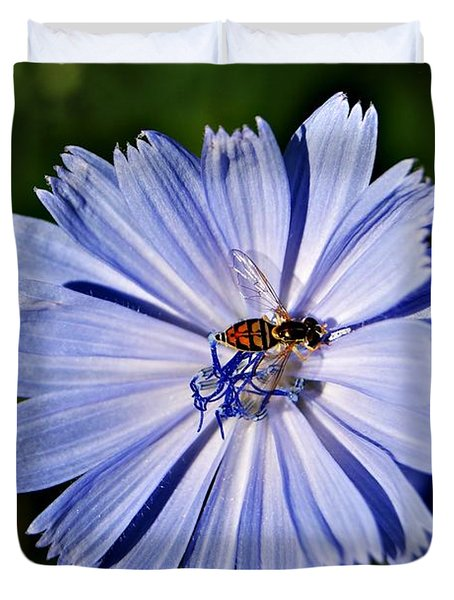 Flower And Bee 2 Duvet Cover by Joe Faherty