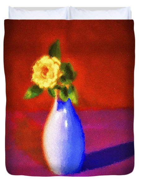 Flower And Vase  ... Duvet Cover