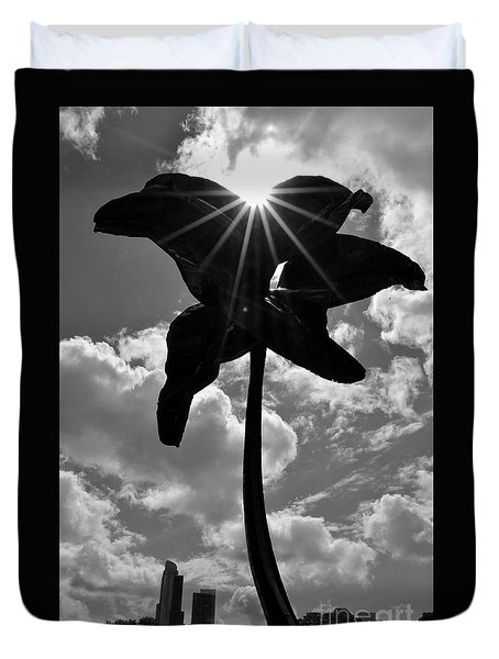 Duvet Cover featuring the photograph Flower Art by Zawhaus Photography