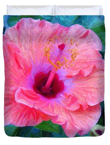 Flower At The Cape Duvet Cover