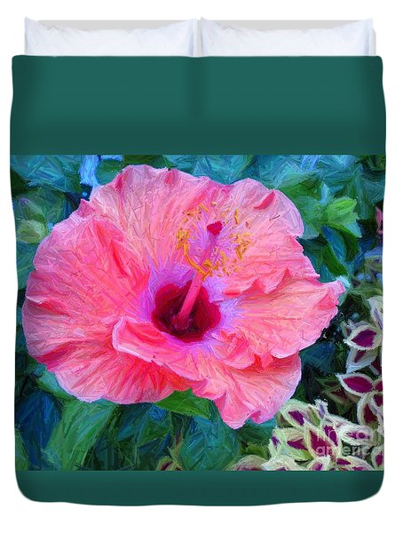 Flower At The Cape Duvet Cover