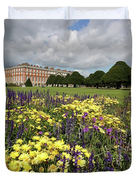 Flower Bed Hampton Court Palace Duvet Cover