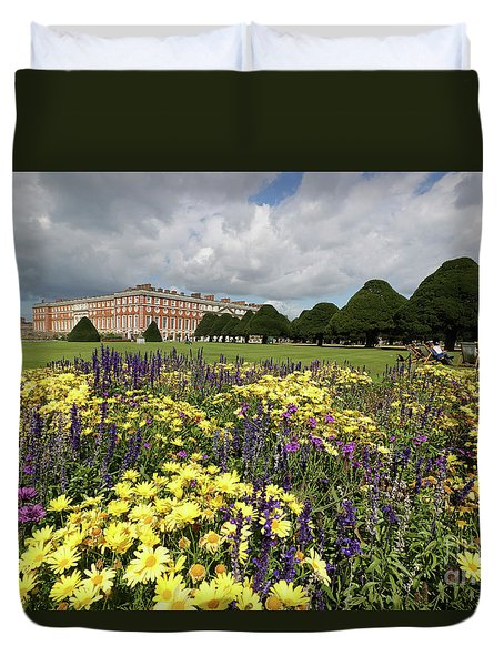 Flower Bed Hampton Court Palace Duvet Cover