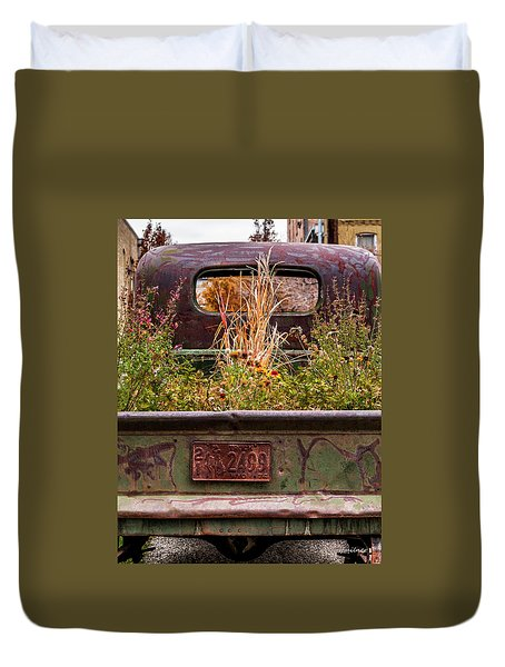 Flower Bed - Nature And Machine Duvet Cover