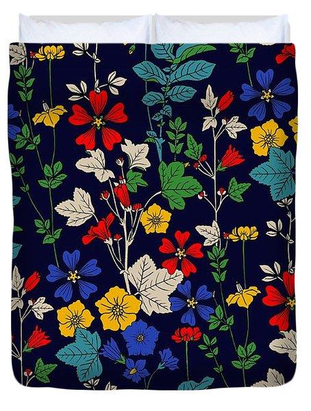 Flower Bed Duvet Cover