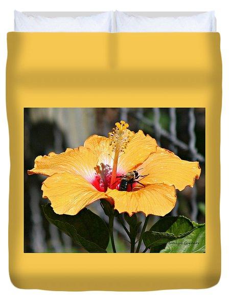 Flower Bee Duvet Cover