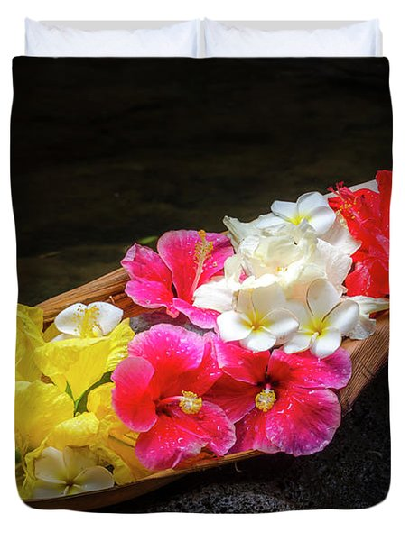 Flower Boat Duvet Cover