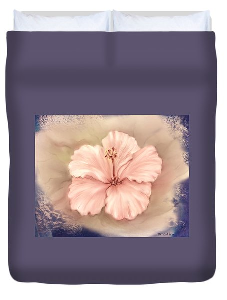 Duvet Cover featuring the digital art Hibiscus Flower by Bonnie Willis
