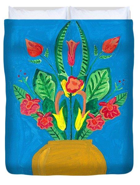 Flower Bowl Duvet Cover