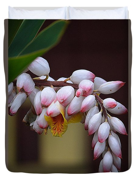 Flower Buds Duvet Cover by Lori Seaman