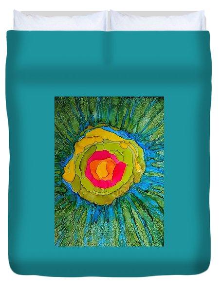 Flower Burst Duvet Cover