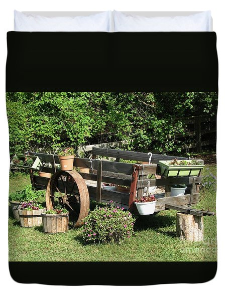 Flower Cart Duvet Cover