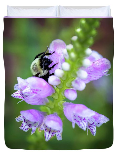 Duvet Cover featuring the photograph Flower Climbing by Eduard Moldoveanu
