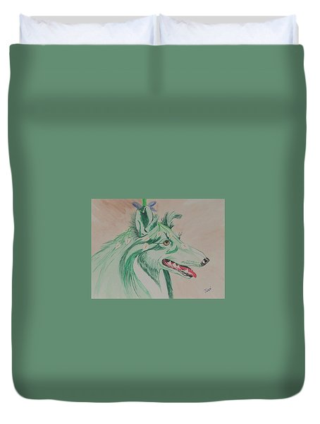Flower Dog # 11 Duvet Cover