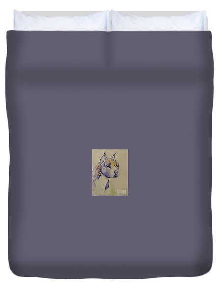 Flower Dog 1 Duvet Cover