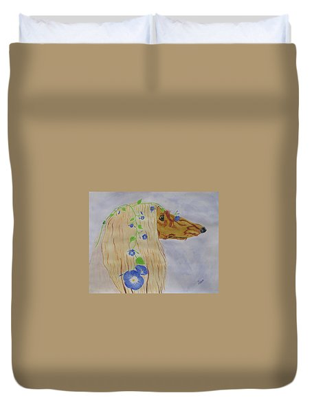 Flower Dog 10 Duvet Cover