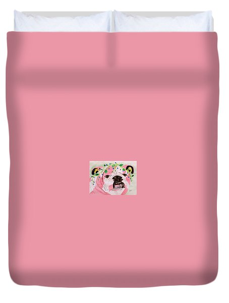Flower Dog 3 Duvet Cover