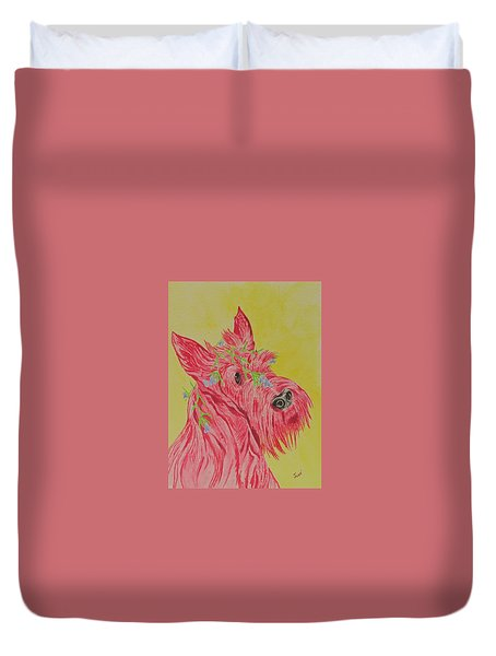 Flower Dog 6 Duvet Cover