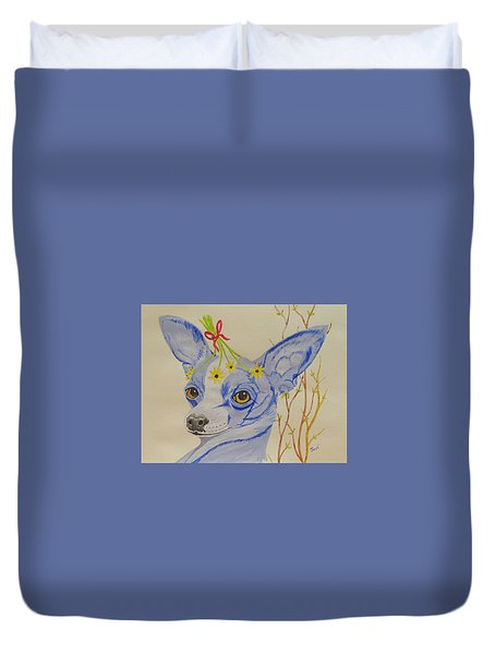 Flower Dog 7 Duvet Cover