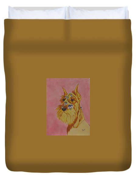 Flower Dog 9 Duvet Cover