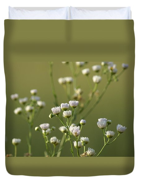 Flower Drops Duvet Cover by Heidi Poulin