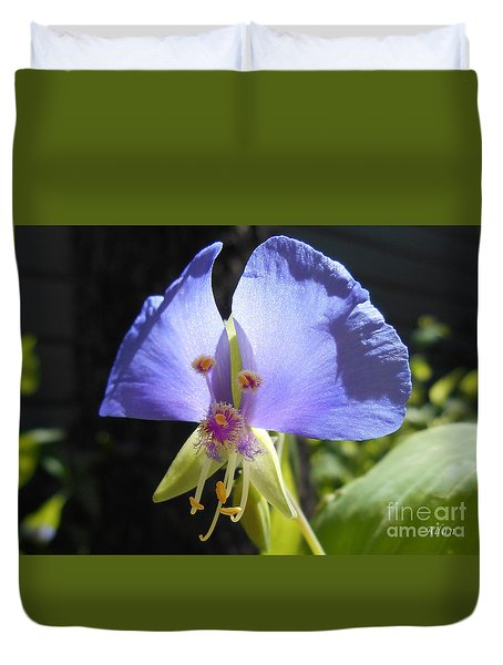 Duvet Cover featuring the photograph Flower Face by Felipe Adan Lerma