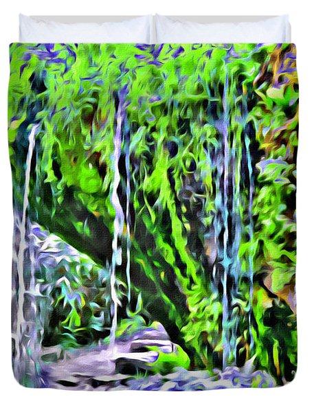 Flower Falls Duvet Cover