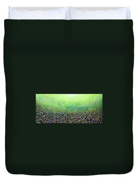 Flower Field Riot Duvet Cover by Geoff Greene