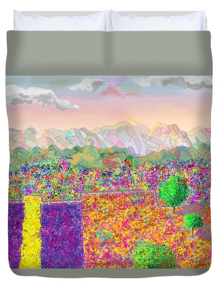 Flower Fields Duvet Cover