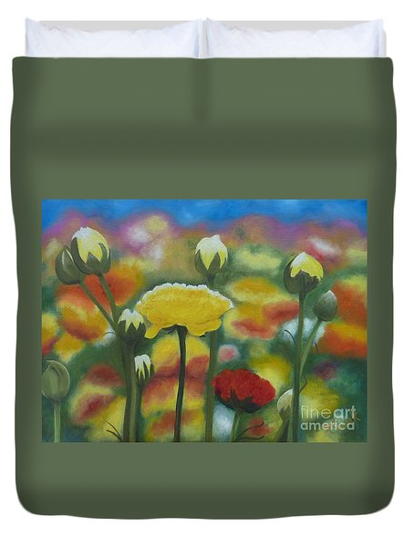 Flower Focus Duvet Cover