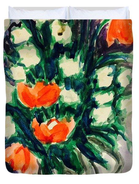 Flower For Friday  Duvet Cover