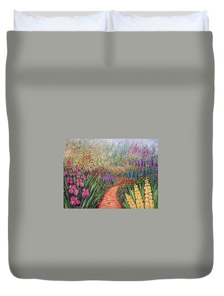 Flower Gar02den  Duvet Cover