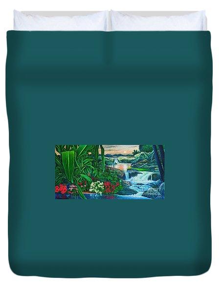 Flower Garden Ix Duvet Cover