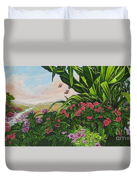 Flower Garden Vii Duvet Cover