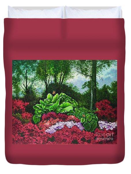 Flower Garden X Duvet Cover