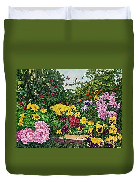 Flower Garden Xii Duvet Cover