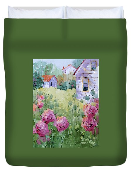 Flower Lady's Poppies Duvet Cover