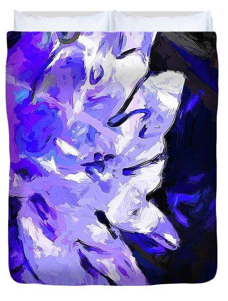 Flower Lavender Lilac Blue Duvet Cover