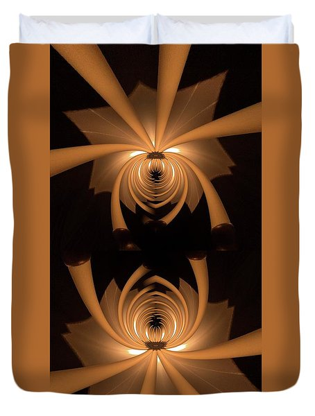 Flower Light Duvet Cover by Ron Bissett