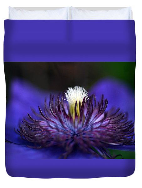 Flower Light Duvet Cover by Wanda Brandon
