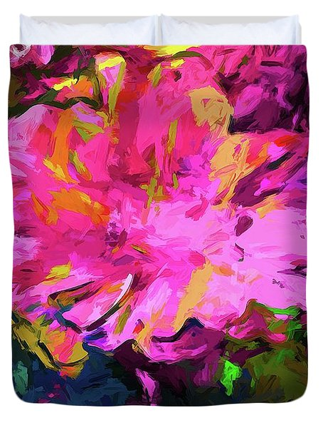 Flower Lolly Pink Yellow Duvet Cover