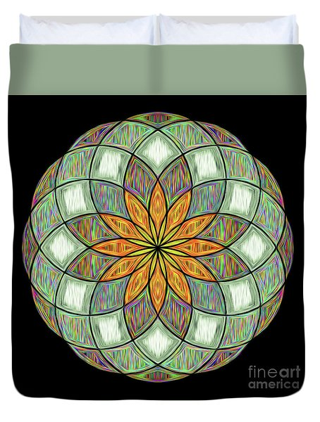 Duvet Cover featuring the digital art Flower Mandala Painted By Kaye Menner by Kaye Menner