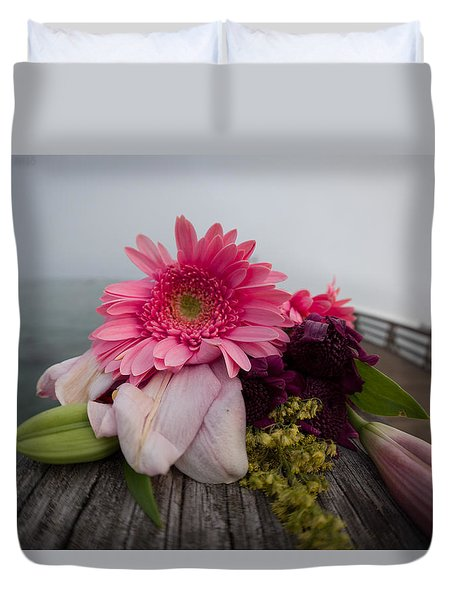 Duvet Cover featuring the photograph We All Die Sometime by Lora Lee Chapman